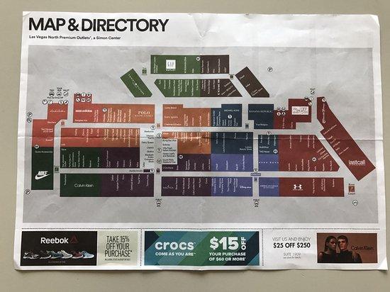 Outlets店家地圖   Picture of Las Vegas North Premium Outlets, Las