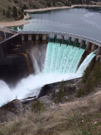 Polson, MT: Close up of the dam