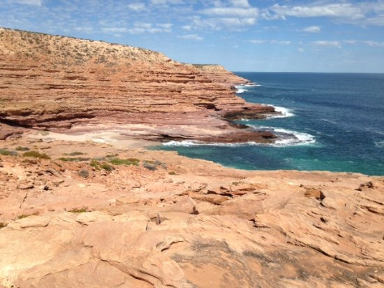 Национальный парк Кальбарри, Австралия: Looking down to the small beach