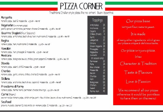 Saint Francis Bay, África do Sul: Current Pizza menu