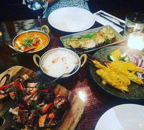 Frewville, Australia: Butter Chicken, Prawn Dumplings, Pork Belly and Satay Chicken
