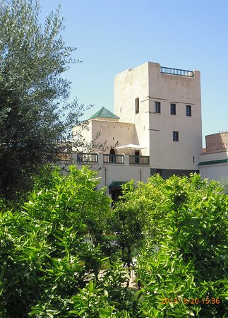 Riad Bamaga Hotel: Jardin Secret with viewing tower