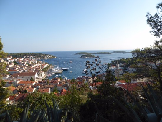 Hvar Fortress: View of Hvar from the fortress