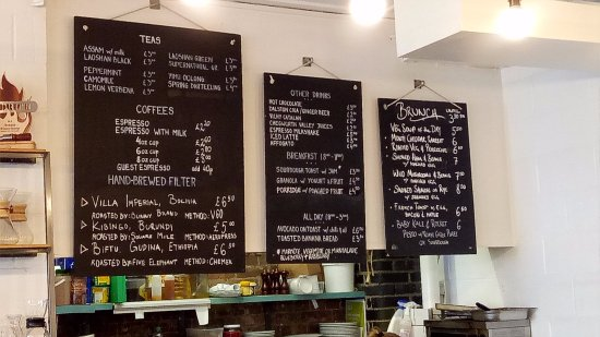 Slim Coffee Menu  Picture Of Prufrock Coffee London  Tripadvisor