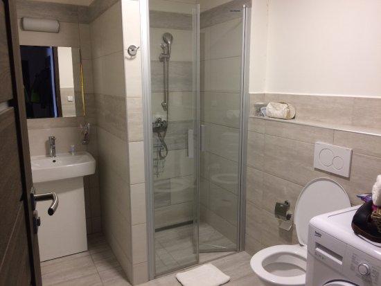 Il bagno pulito e comodo con lavatrice picture of hotel