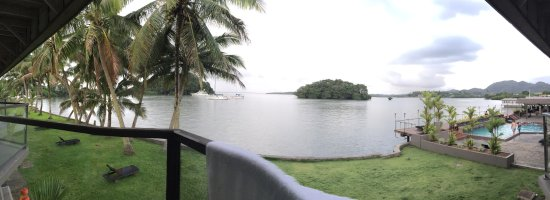 Lami, Fiji: View from our room. Relaxing view indeed.