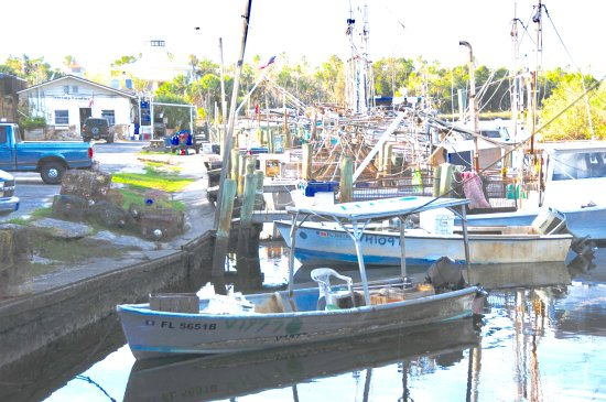 Floride : Working fishing boats in Crystal River