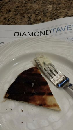Diamond Tavern - Hilton Baltimore: Yes, it was burned. Burned very dark brown. Unacceptable.