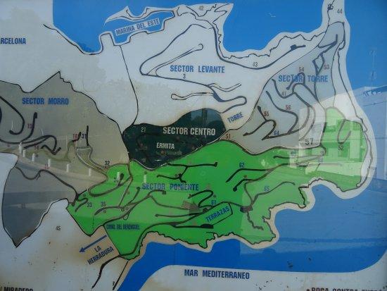 Almunecar Spain Map.Faro De La Herradura Area Map Picture Of Faro De La Herradura