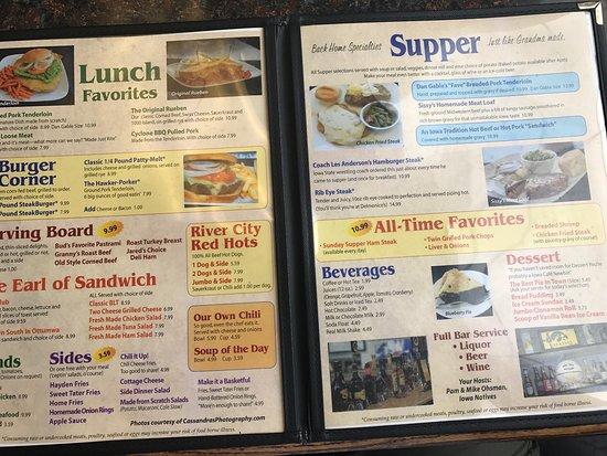 Iowa Cafe Mesa Az Menu And Prices