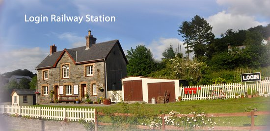 Carmarthenshire, UK: Login station and garden