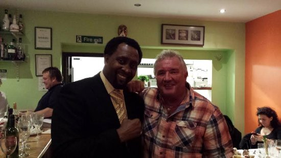Tiramisu : Tony Claudios pal with Tommy Hearns, we will be in business soon, just a bit of luck needed