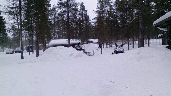 Saariselka, Finland: Una vista general de la granja