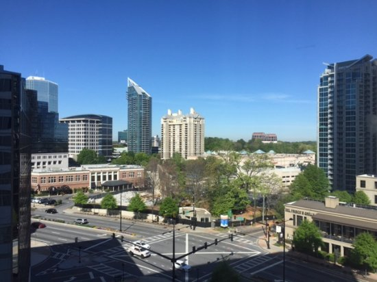 view from room at night picture of westin buckhead. Black Bedroom Furniture Sets. Home Design Ideas