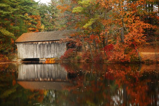 Old Sturbridge Village: The Vermont Covered Bridge in fall