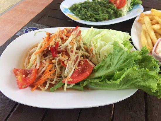 Erawan, Thailand: Papaya Salad - B50 ($2 AUD)