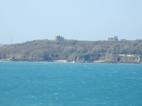 A view of Pendennis castle from the walls of St. Mawes castle