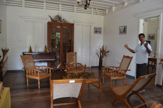Anse La Mouche, เซเชลส์: showing a typical colonial house