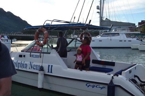 Anse La Mouche, Seychelles: sea trip ship