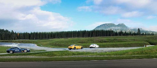 Lake Cowichan, Canada: Mercedes-Benz AMG at the Vancouver Island Motorsport Circuit.