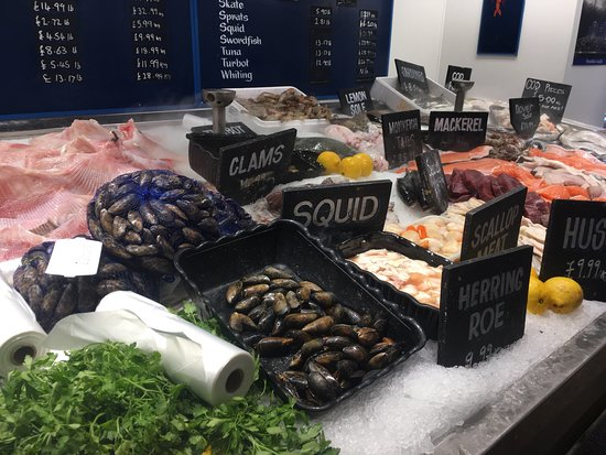 Super fresh seafood and galactic fish and chips