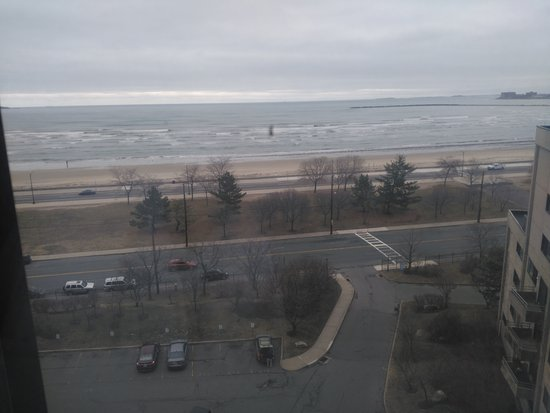 Revere, MA: Bird's eye view of section of the beach...