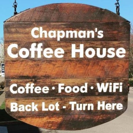 We 39 ve changed our name to chapman 39 s coffee house for Chapman house