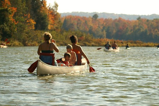 Honor, MI: Fall Canoeing