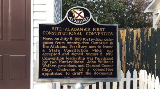 Alabama Constitution Village : Plaque