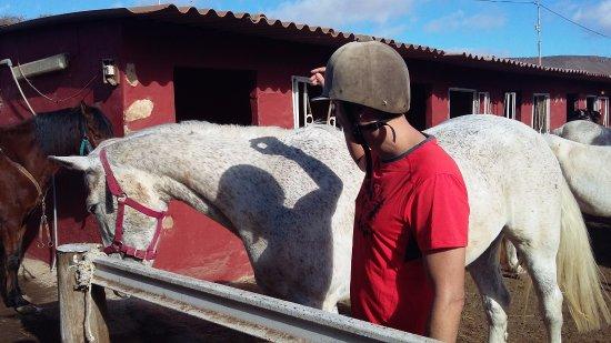 Triquivijate, إسبانيا: A la espera de la clase de equitación
