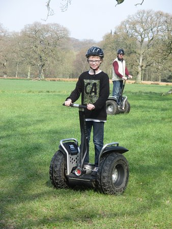 Auchinleck, UK: Even our son aged 12 managed to control the Segway