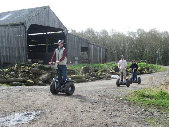 Auchinleck, UK: Practiscing driving the segway