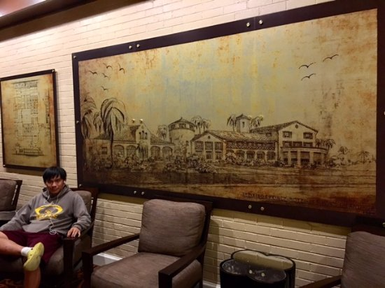 The King and Prince Beach and Golf Resort: Very nice art of original drawing of resort in lobby area