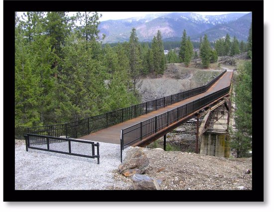 Thompson Falls, MT: The Historic High Bridge, Looking North