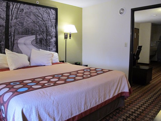 Cloverdale, IN: Bedroom in 2-room King Suite.