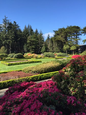 Coos Bay, Όρεγκον: Beautiful gardens at Shore Acres State Park