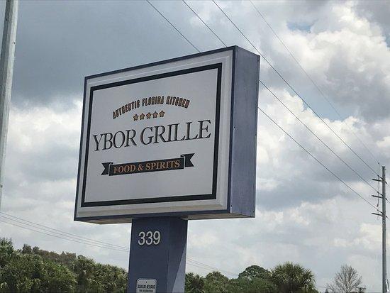 Ybor Grille: Signage