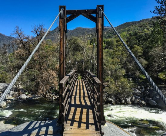 Three Rivers, CA: Suspension Bridge