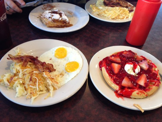 Farmington, MO: Waffle Double Up Breakfast.