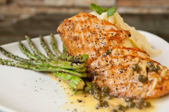 Bossa Nova: Charbroiled salmon fillet top with our homemade style passion fruit sauce. A must try!!!!