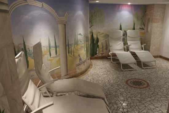 Postal, Italy: Ruheraum bei Sauna und Whirlpool