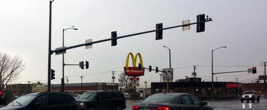 Hillside, IL: view from intersection of Roosevelt Rd. & Mannheim Rd. towards McDonald's