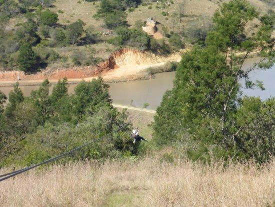 Port Shepstone, Sudafrica: Crisscrossing waterbodies at Lake Eland Zip Line
