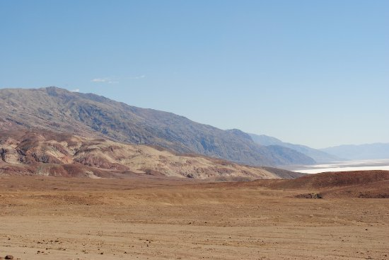 Artists Palette: The Badwater Salt Flat from Artists point.