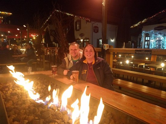 Leavenworth, WA: fire table!  Perfect for sitting outside on a cool evening