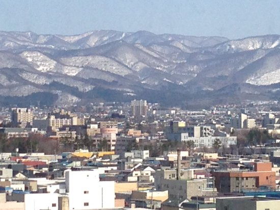 Richmond Hotel Aomori: View of mountains from east facing rooms