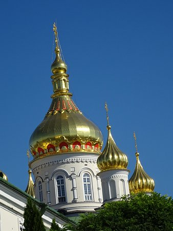Pochayev, Ucrania: Gold domes for your alms