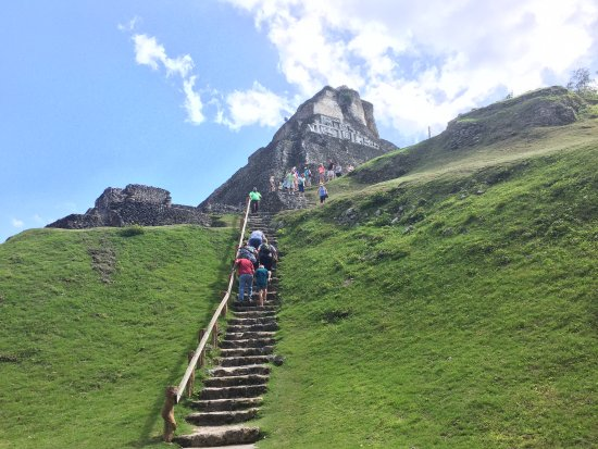 Belize District, Belize: A little scary trek to the top