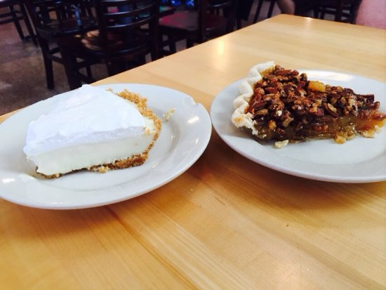 Lemon icebox pie, and pecan pie, which we may or may not have devoured! 😉