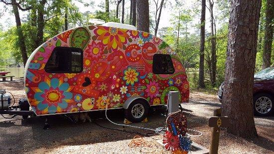 Jasper, TX: Hippie trailer...???